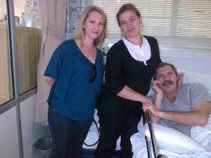 Olga from ISSA with Captain Mikhail Kravtsov and his wife Valentina at Entabeni Hospital.