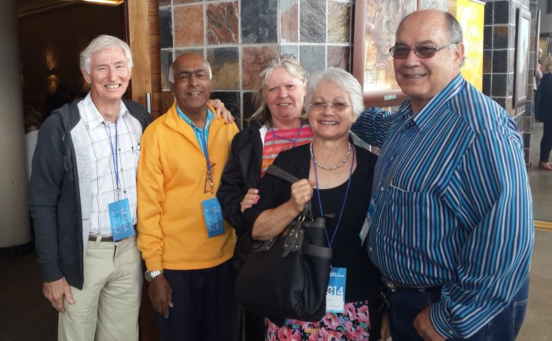Trevor, Anand, Natalie, Linda and Boet at The Global Leadership Summit in Durban on the 17th and 18th October.