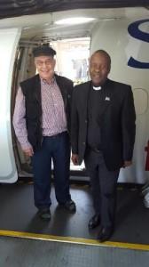 Boet van Schalkwyk and Thami Thembi on their way to Nigeria