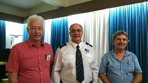 Malcolm Wilson Act.Chairman, Rev Van Schalkwyk, David Hughes