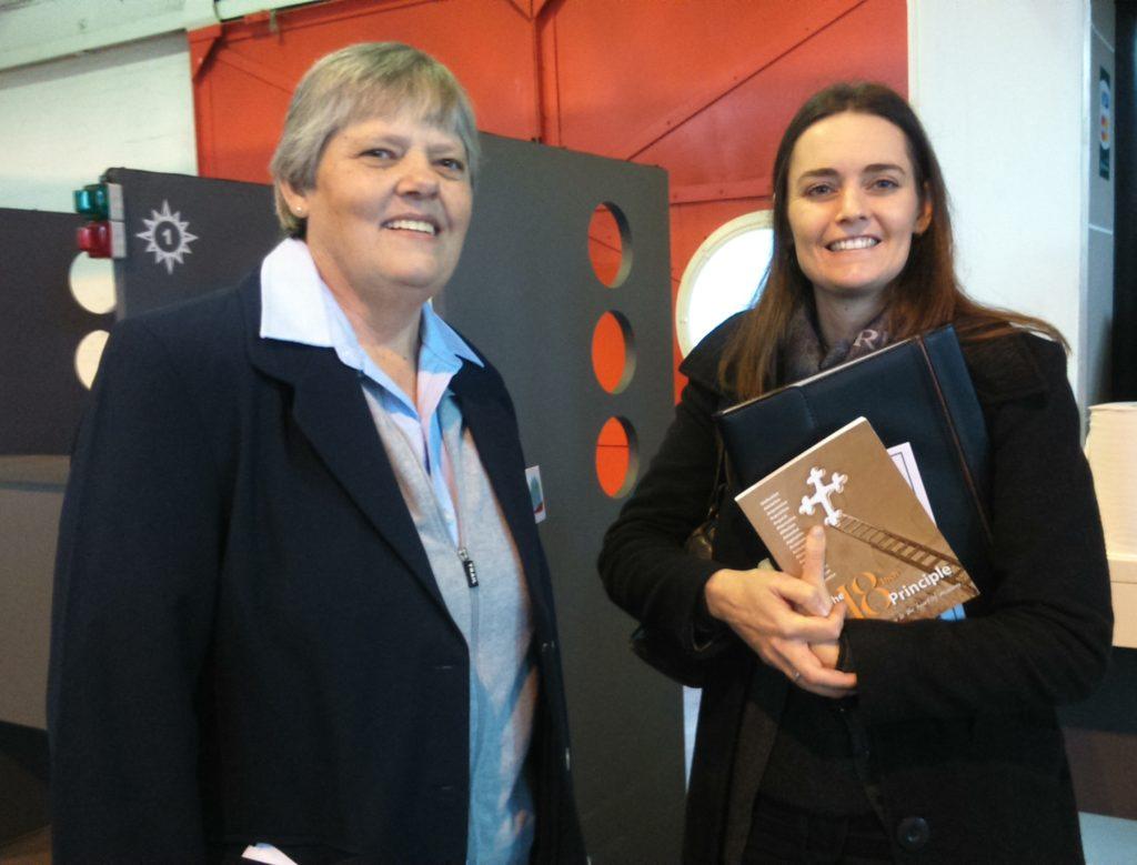 Chaplain Marietjie Visser and Ds Anneke Viljoen