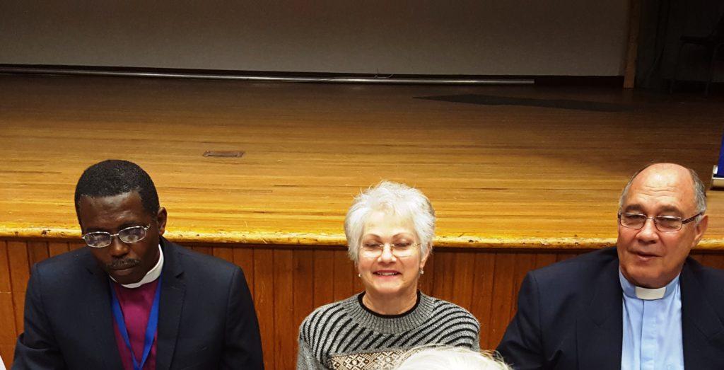 l-r Rt.Rev Mutare, Linda and Boet Van Schalkwyk