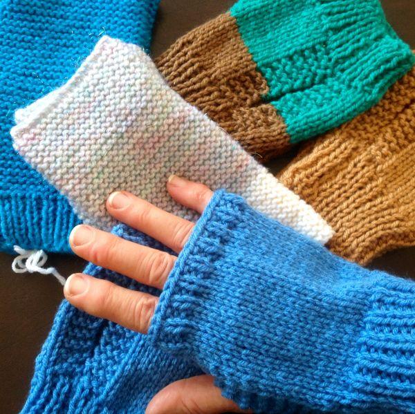 Elaine's Pattern for Fingerless Mittens